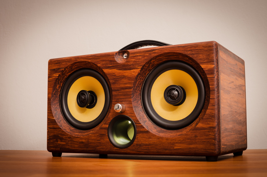 best wireless speaker 2016 review wifi bluetooth airplay speakers aptx new latest ultimate coolest speakers available bamboo wood solid woods wooden vintage hipster audiophile handmade tk2050 sta508 sta516 tripath amplifier guitar amplifier HD sound music high resolution